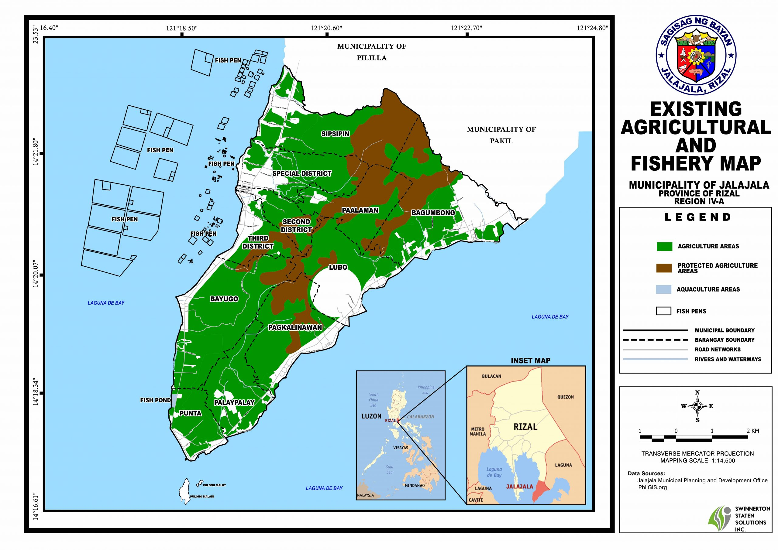 AGRICULTURAL & FISHERY MAP