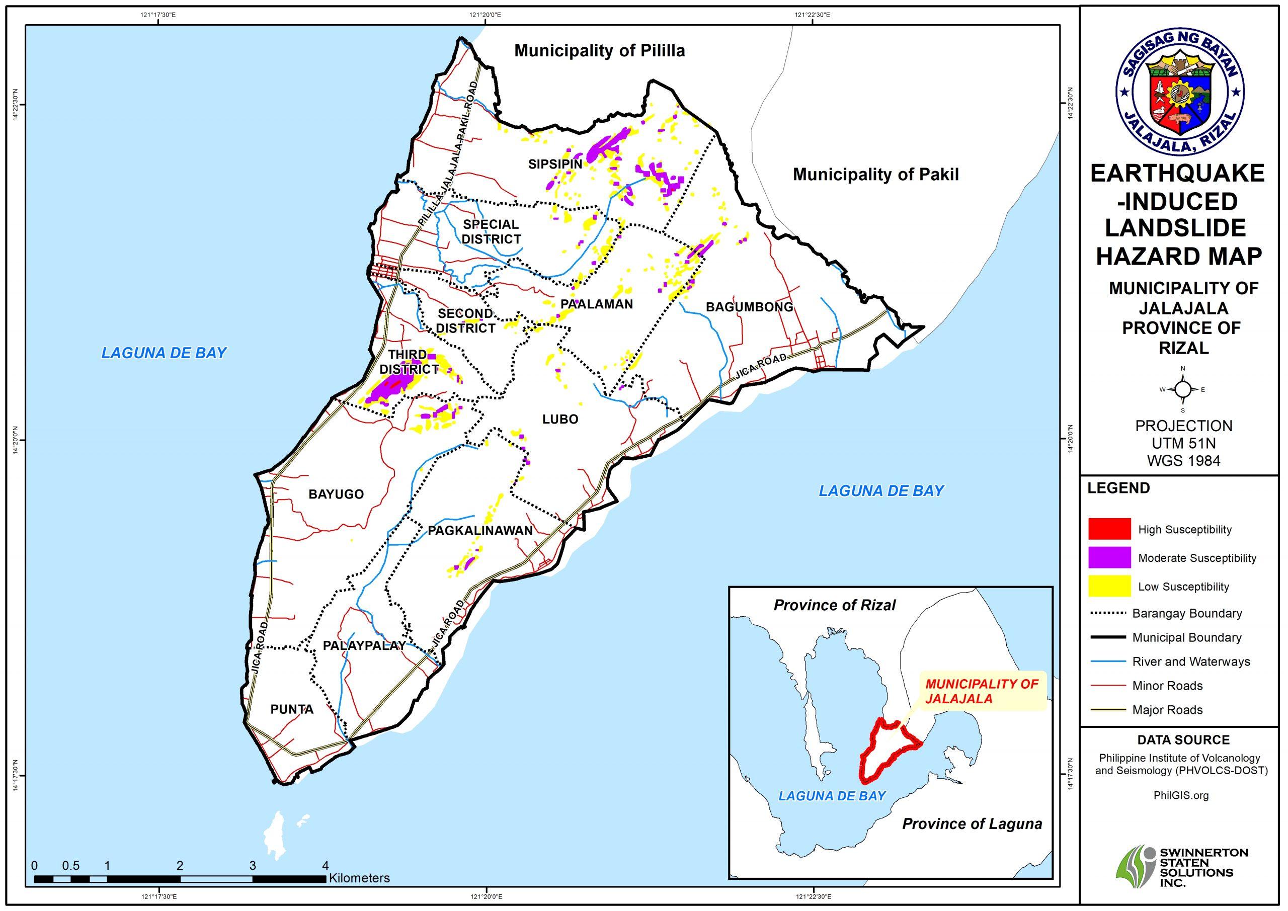 EARTHQUAKE-INDUCED LANDSLIDE HAZARD MAP