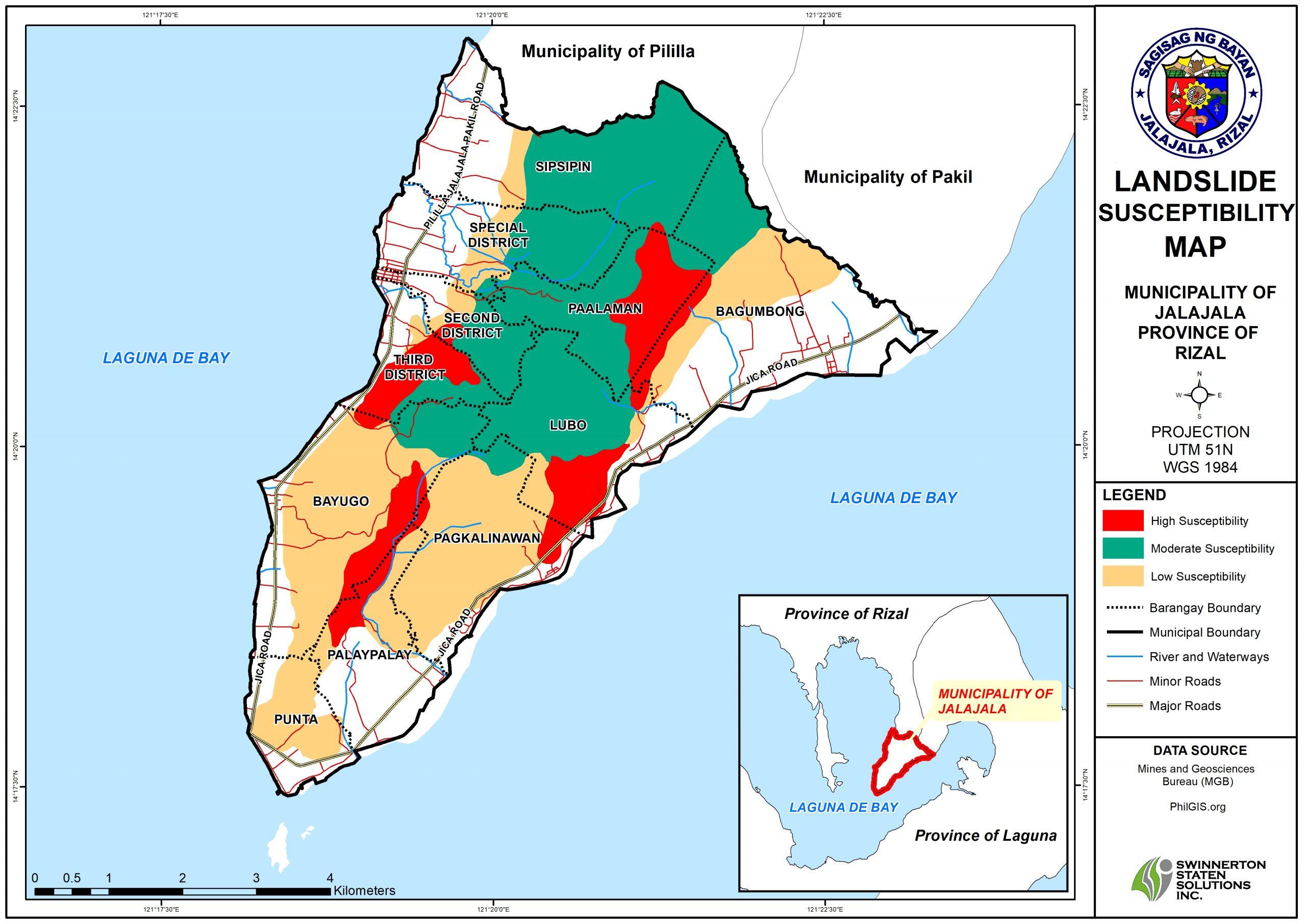 LANDSLIDE SUSCEPTIBILITY MAP