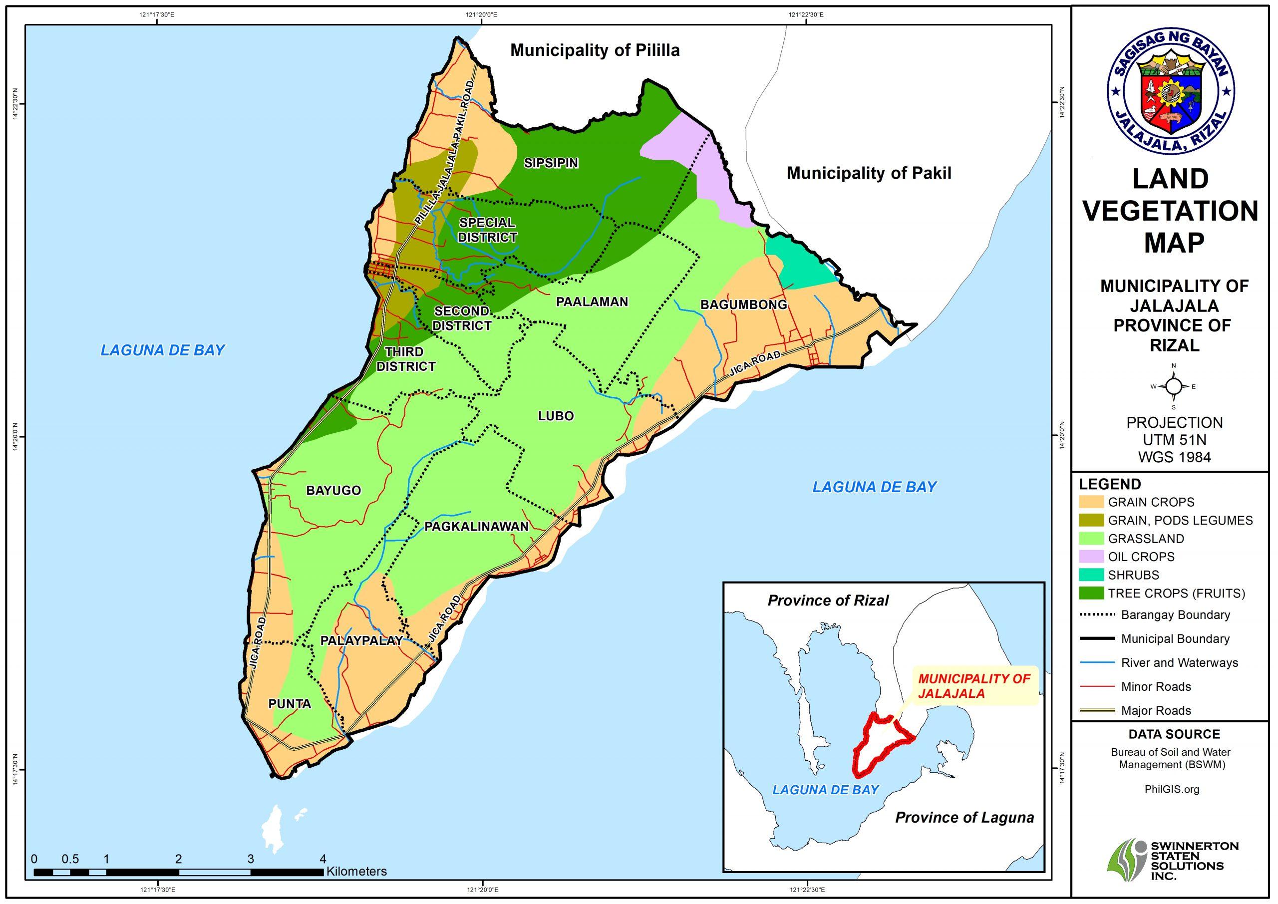 LAND VEGETATION MAP